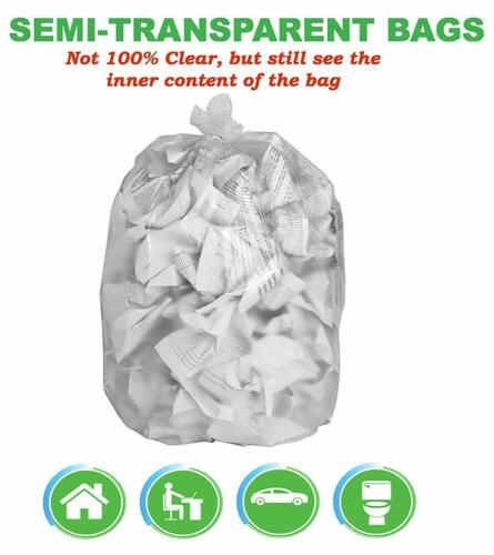 CCLINERS 4-6 Gallon Clear Small Garbage Trash Bags 200 Count
