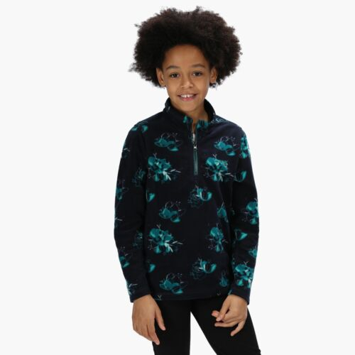 Blue Regatta Kids Lovely Jubblie Lightweight Half Zip Printed Fleece