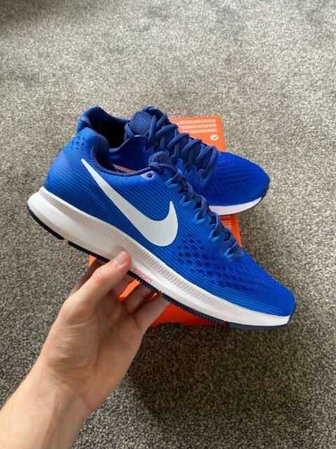 Nike Air Zoom Pegasus 34 Scarpe Da Corsa Scarpe Da Ginnastica UK 7 & 8.5 BluBianco