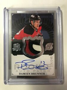 2013-14-Upper-Deck-The-Cup-Damien-Brunner-Rookie-Auto-3-Color-Patch-249