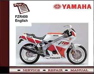 yamaha fzr400 fzr 400 workshop service repair manual ebay rh ebay co uk yamaha fzr 400 genesis manual yamaha fzr 400 3tj manual