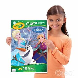 New Crayola Frozen 18 Giant Colouring Pages Creative Play