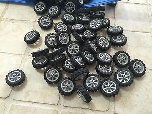 Lego New Motorcycle Wheel Lot Of 4 Wheel Tire Rim Ebay