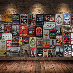 retro metal tin sign poster plaque bar pub club cafe home. Black Bedroom Furniture Sets. Home Design Ideas