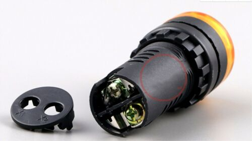 New 10pcs AD16-22SM  Flash buzzer  22mm hole  Yellow