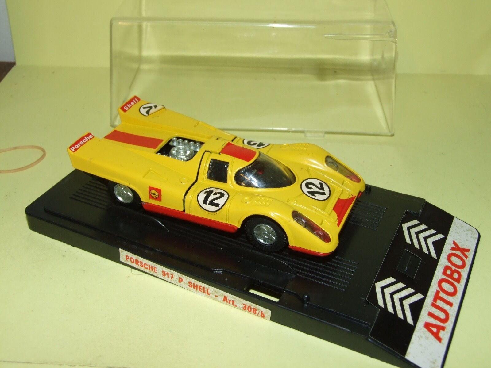 PORSCHE 917 SHELL N°12 MONZA 1970 MERCURY AUTOBOX 308 b 1 43 Arrivée 11èm défaut