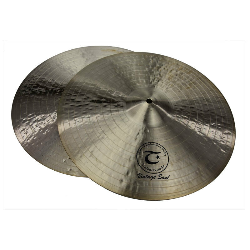 TURKISH CYMBALS cymbale Vintage Soul 15  HiHat Hi-Hat 1151 1313g