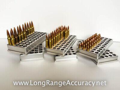 50 BMG reloading tray block holder caliber 20 holes
