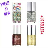 "NAILS INC. "" CHELSEA / GRAFFITI / DIAMOND "" GLITTERY NEW FULL SIZE NAIL POLISH"