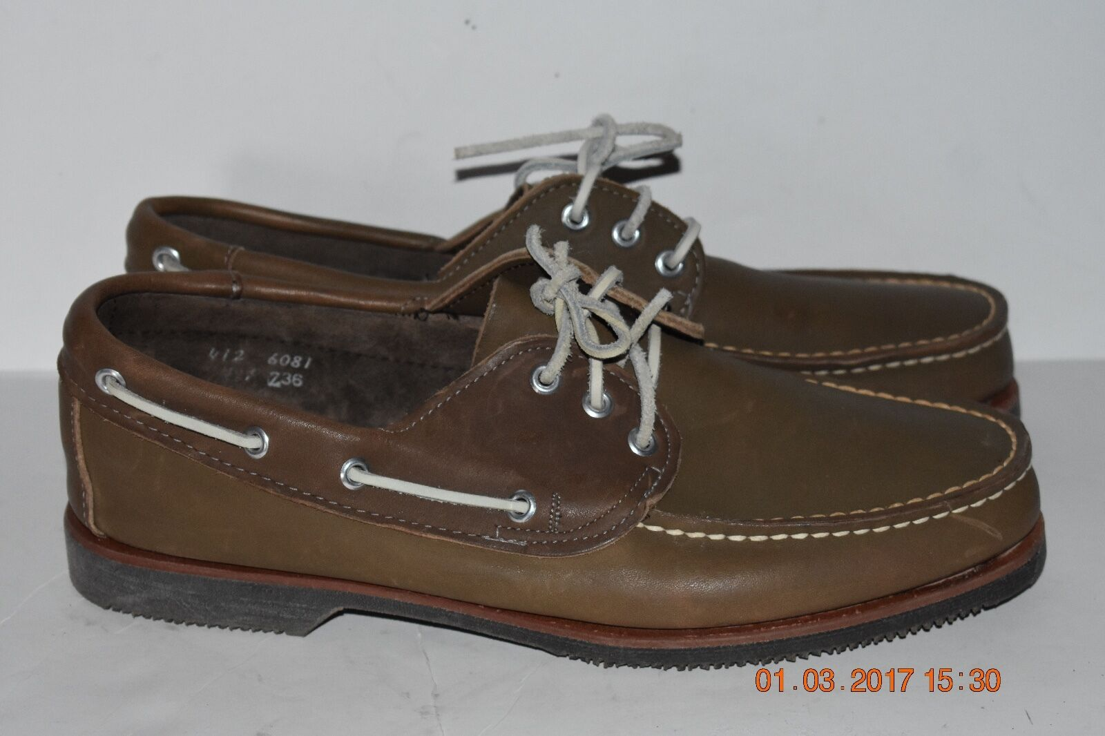 Pine Ridge Men's Size 12 Leather Casual Boat shoes