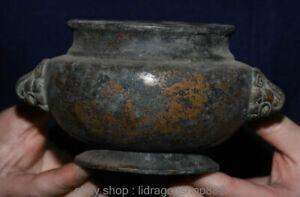 """5.8 """"brûleurs d'encens en cuivre rouge de Chine ancienne marqués par Xuande"""