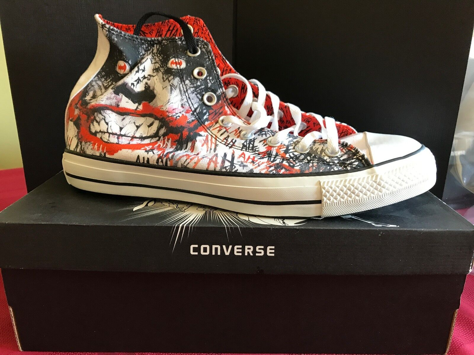 Converse Chuck Taylor All Star Zapatos Batman Joker detective 880 Zapatos Star  11 Nuevo 98c1b7