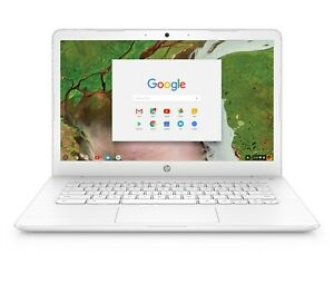 HP-14-034-Chromebook-Intel-2-4GHZ-32GB-SSD-4GB-RAM-Webcam-Bluetooth-Snow-White