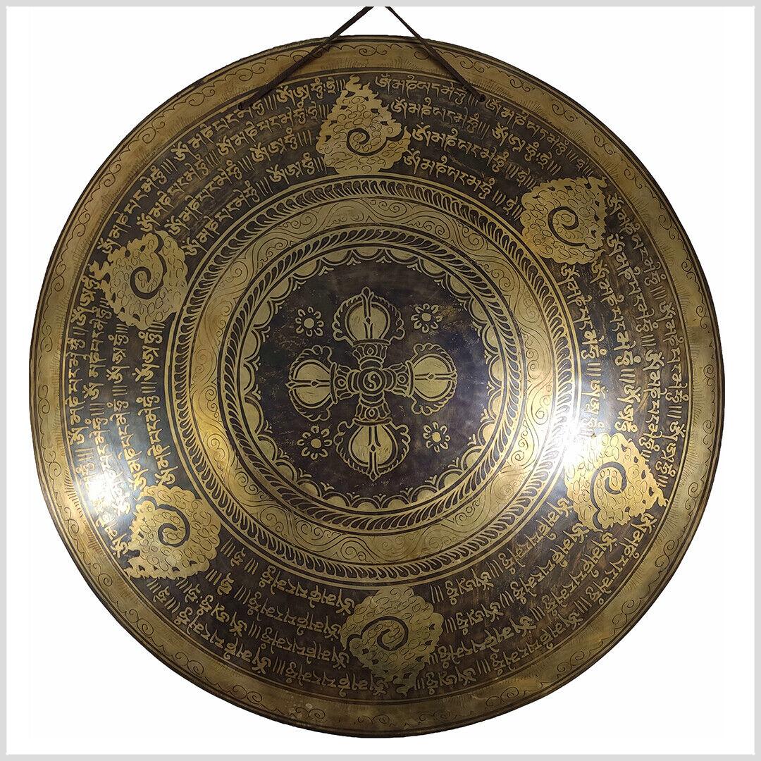 Handgefertigter Gong aus Nepal Doppeldorje 3 KG 55 cm Vajra Dorje Klangschale