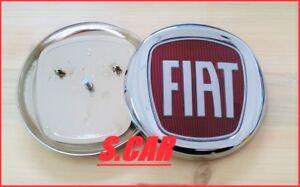 LOGO-STEMMA-FREGIO-FIAT-ROSSO-ANTERIORE-100-MM-FIAT-BRAVO-2007-IDEA-500-X-CROMA
