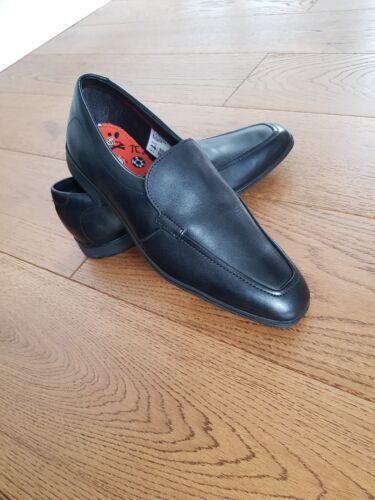 la Clarks en Zapatos Willis Senior cuero negro sin Bootleg escuela cordones de holgados de zapatos de Step rqrO0wz