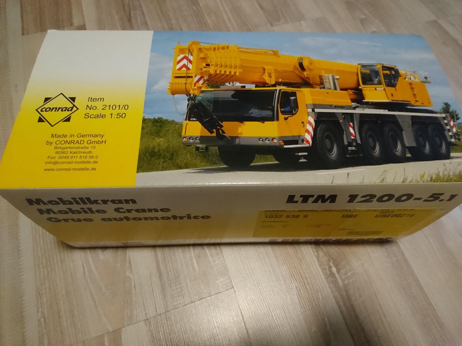 LIEBHERR LTM 1200-5.1 kranmodell 1 50 CONRAD No. 2101 0