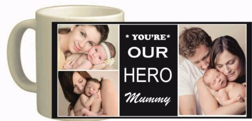 PERSONALISED MUG COLLAGE PHOTO IMAGE PICTURES ADD ANY TEXT GIFT TEA COFFEE CUP