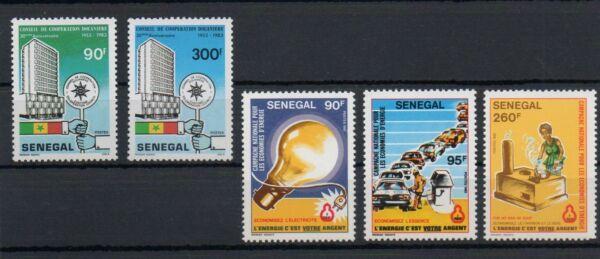 1983 Afrique Senegal Neufs ** Mnh Y&t N° 589-590-591 + 599-600 Faire Sentir à La Facilité Et éNergique