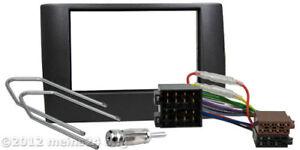 Radio-Blende-fuer-FIAT-Stilo-Auto-Einbau-Rahmen-Doppel-2-DIN-Kabel-Adapter-ISO