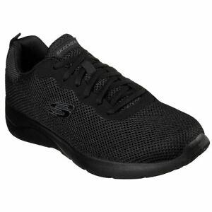 Dettagli su Skechers Uomo Dynamight 2.0 Rayhill Basso Top Sneaker Scarpe  Calzature Nere