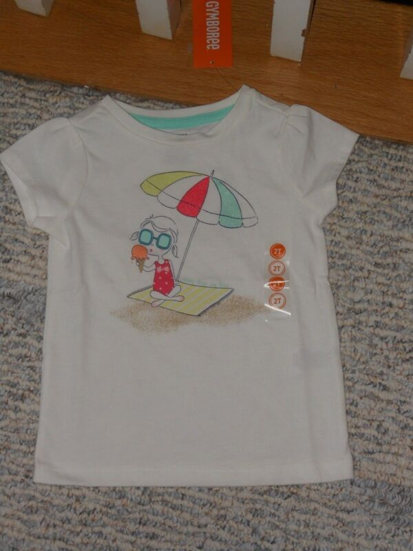 New Gymboree Outlet White Tulle Corsage Flower Pot Sleeveless Top Size 4T NWT