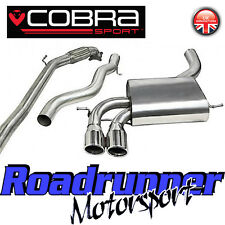 "Cobra Audi S3 2.0 3 ""Turbo posterior del sistema de escape Inoxidable non res Inc De Cat 3 Dr"