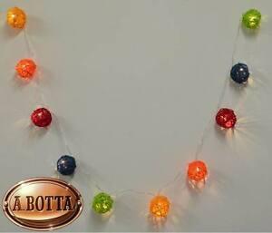 Colore CELESTE GRIGIO CHIARO e SCURO . GHIRLANDA luminosa con 10 palle LED