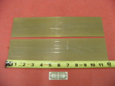 """4 Pieces 1//8/"""" x 1/"""" C360 BRASS FLAT BAR 12/"""" long Solid Plate .125/"""" Mill Stock H02"""