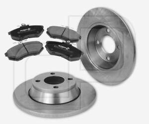 2-Bremsscheiben-und-4-Bremsbelaege-AUDI-80-Avant-B4-vorne-280-mm-ab-FgstNr