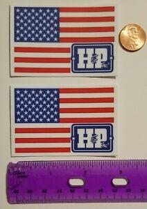 H /& P US FLAG OILFIELD STICKER DECAL 3X2 OKLAHOMA DRILLING GAS FIELD OIL