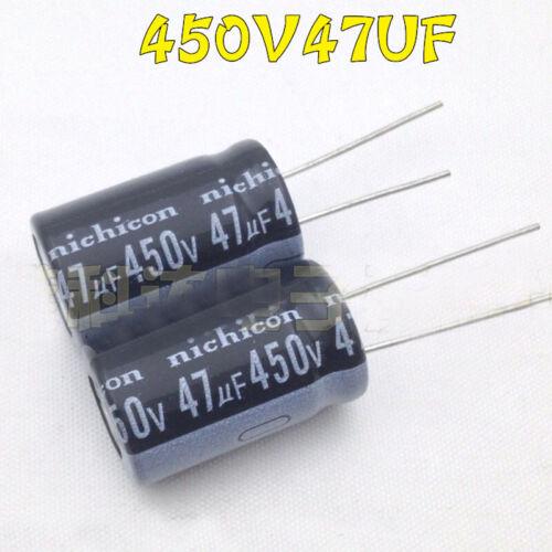20PCS 47uF 450V 105C Radial Electrolytic Capacitor 16×25mm