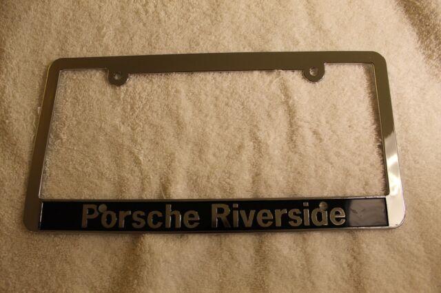 Riverside Porsche Socal Dealership license plate frame. Plastic. Brand New.