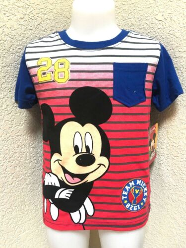 Disney Mickey Mouse Club House Boys Tops T-Shirts Short Sleeve Size 3T NEW