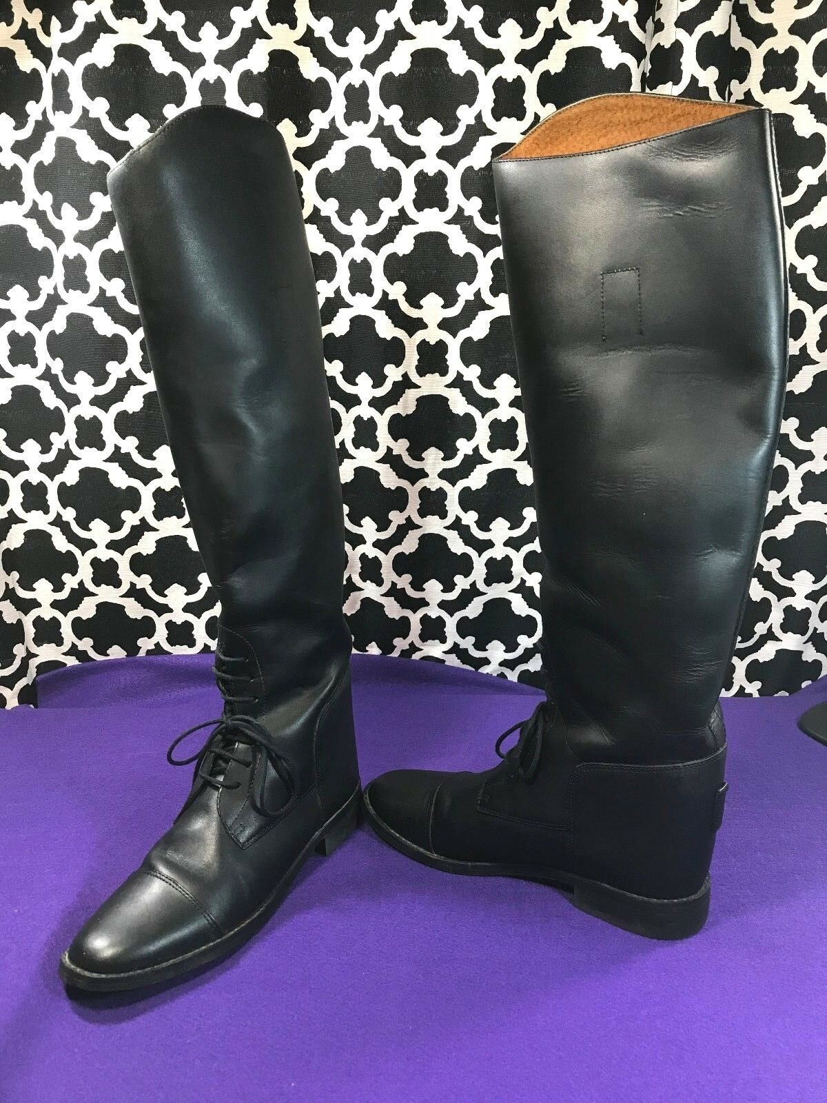 Amazonas Cavalier Tall English Leather Riding Boots - Sz. 8