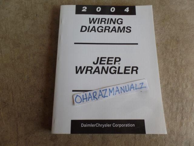 2004 Jeep Wrangler Wiring Diagrams Service Manual Oem