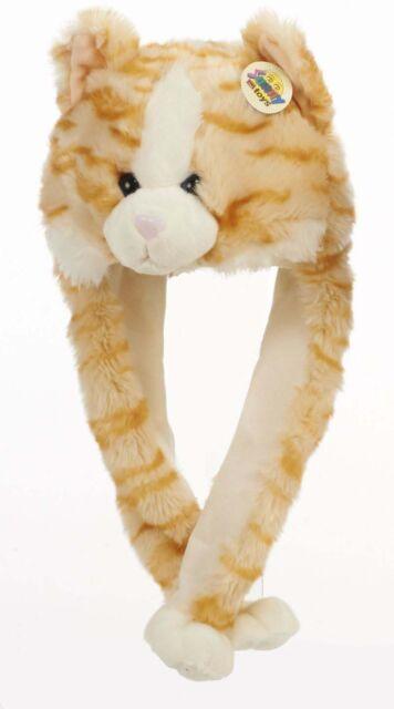 Tier Mütze Plüsch Mütze Katze hellrot