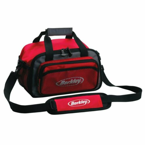 Tackle Bag Padded Interior Fishing Gear Storage Shoulder Tote Red High Quality