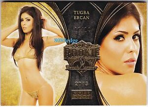 2013-BENCHWARMER-GOLD-EDITION-ROOKIE-CARD-GR18-TUGBA-ERCAN-11-14-TIGER-WOODS