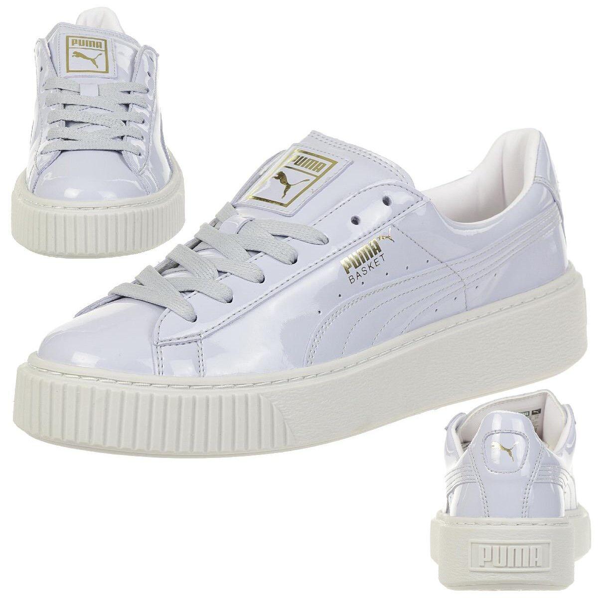 Puma Basket Platform Patent Sneaker Women's Girls' shoes 363314 01