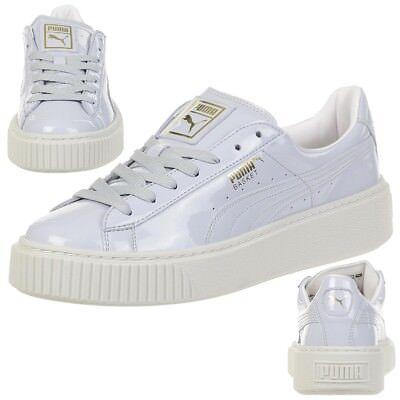 Puma Basket Platform Patent Sneaker Damen Mädchen Schuhe 363314 01 | eBay