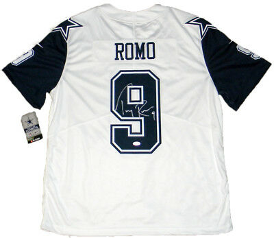 best cheap e87e6 0c69c TONY ROMO AUTOGRAPHED SIGNED DALLAS COWBOYS NIKE LIMITED COLOR RUSH JERSEY  JSA | eBay
