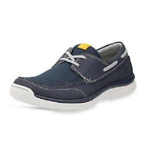 812bca33638 Clarks CLOUD STEPPERS  Marcus Edge  Mens Navy Leather Lace Up Casual ...