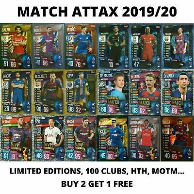 Match Attax EXTRA 2019//20 19//20 100 club Limited Editions Man of the match HTH