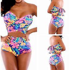 Women's Push-up Padded Bra Bandage Bikini Set Swimsuit Triangle Swimwear Bathing