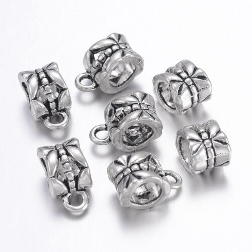 20PCS Tibetan Silver Hangers Charms Links Bracelet Bail Beads Cup Antique Silver