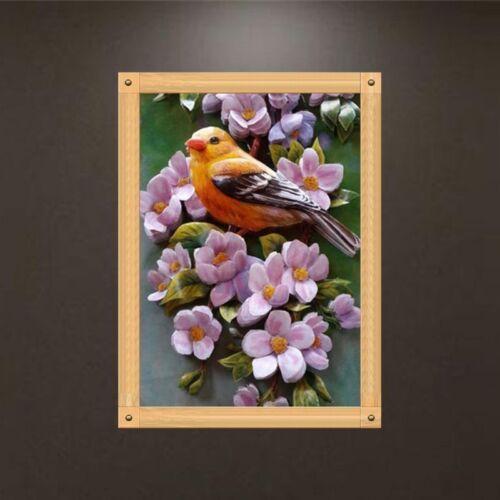 Parrot 5D Diamond Painting Embroidery Bird Cross Craft Stitch DIY Kit Home Decor
