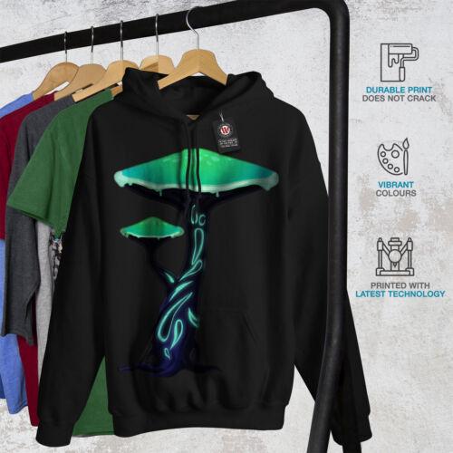 Nature Casual Hooded Sweatshirt Wellcoda Toxic Mushroom Print Mens Hoodie