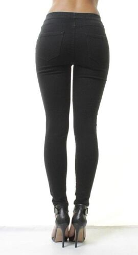 Ex New Look Womens Mid Waisted Jean Jeggings Ladies Stretchy Leggings Pants 4-26