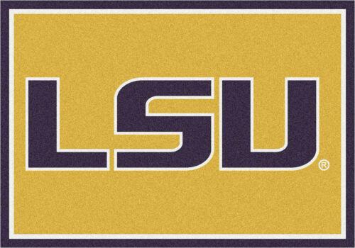 "Approx 3/'10/""x5/'4/"" 4x6 Milliken LSU Tigers 45280 NCAA Spirit Area Rug"